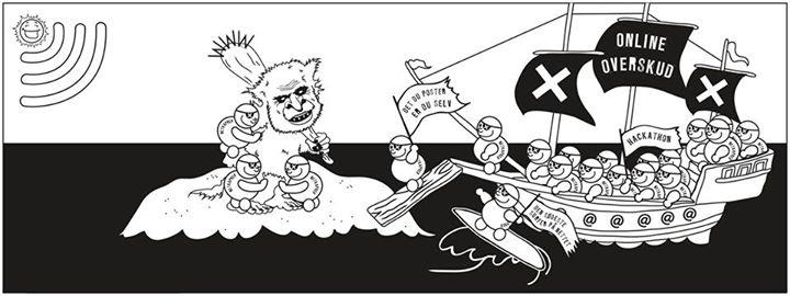 Online overskud illustration