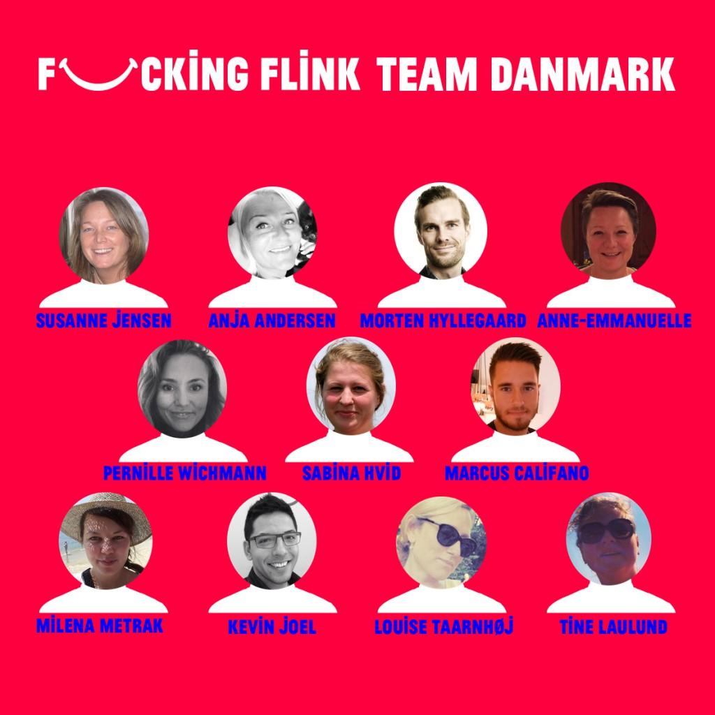 Fucking Flink Team Danmark m. spillere