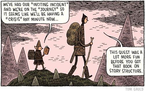 Tom Gauld tegneserie